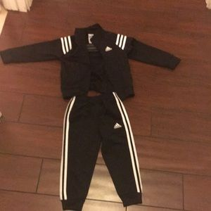 Gently used 3T  Adidas Jacket and Pants